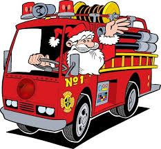 Santa Fire truck cartoon