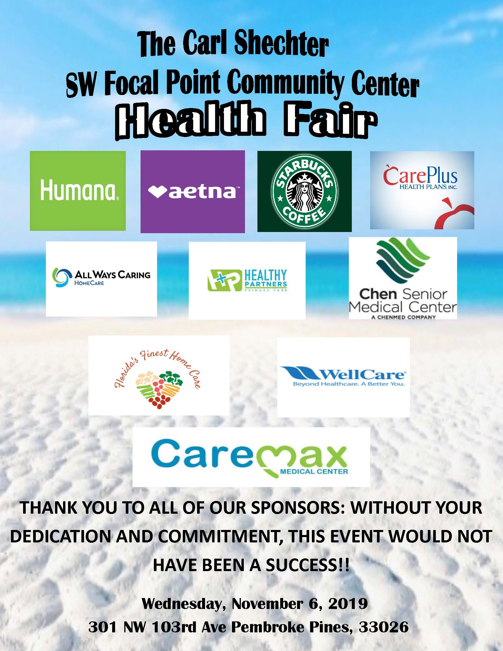 HEALTH FAIR POST SPONSORS 2019