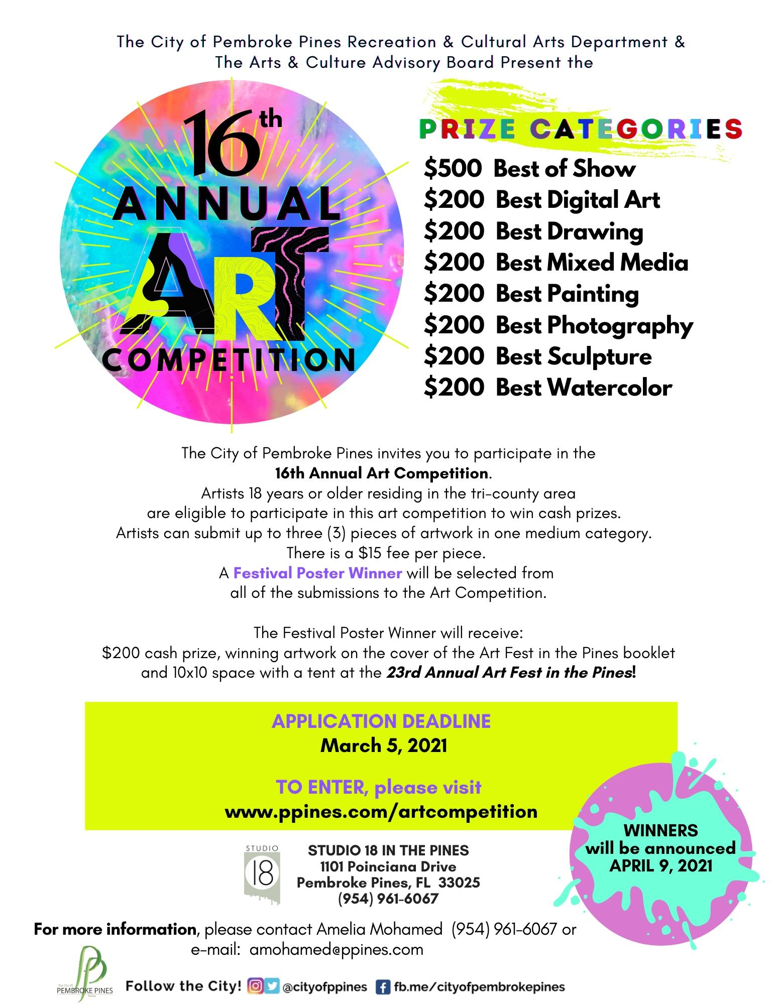 2021- 16th Annual Art Competition