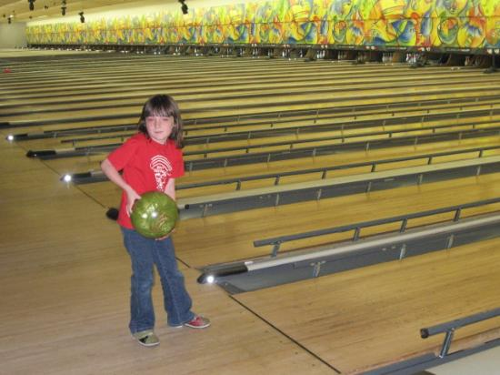 Camper about to bowl